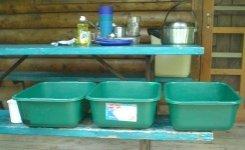 camping dishwashing