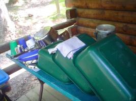 campsite dishwashing