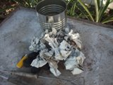 using charcoal chimney