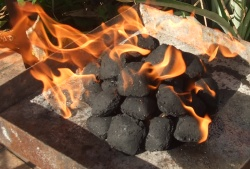 ... Without Lighter Fluid. lit charcoal. When lighting charcoal most people choose one of four methods & Methods For Lighting Charcoal or How To Light Charcoal azcodes.com