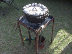 dutch oven cooking tables