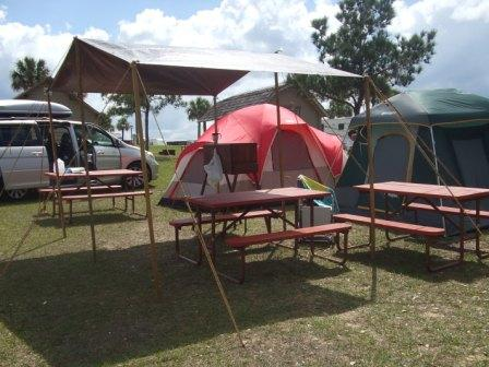 camping kitchen with dining fly